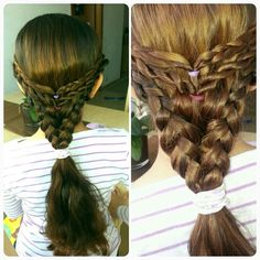 Dutch and rope braids hairstyle