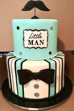 Little Man (Mustache Cake) by Sweetiesgoldenart