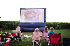 It's Showtime! Movie Night Birthday Party Ideas from #peartreegreetings #popcorn #kids