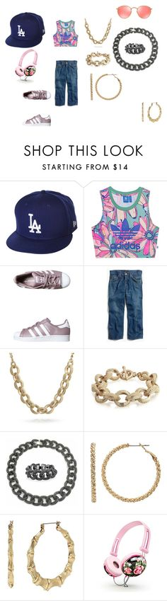 """""""fly girl"""" by effyswanhaze on Polyvore featuring moda, New Era, adidas Originals, Madewell, Bling Jewelry, Juicy Couture, Betsey Johnson e Ray-Ban"""