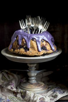 Blueberry cake from my second cookbook. http://www.jotainmaukasta.fi/2015/03/02/sita-parempi-soppa-lahtee-painoon/