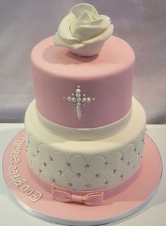 Girl Baptism Cakes