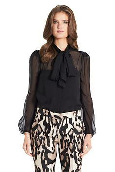 DVF | The Jezebel top is the perfect work blouse in a sophisticated chiffon. http://on.dvf.com/13pPV2o