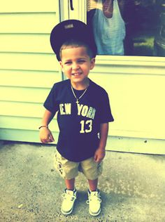 ayyyee ✌ OMG I want my little boy to be him!!!!!!! true swag right there