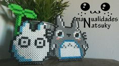 Hama beads Totoro #manualidades #hamabeads #pearls #totoro #hama