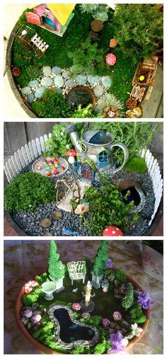 DIY indoor fairy gardens