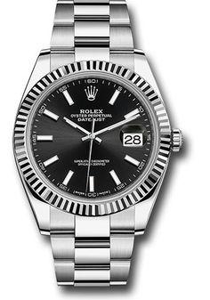 Rolex Datejust 41 Steel and White Gold - Fluted Bezel - Oyster https://www.swissluxury.com/rolex-watches-datejust-41-steel-and-white-gold-fluted-bezel-oyster.htm #RolexWatches #RolexDatejust41Watches #RolexPrices