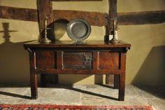 A Rare Late Medieval Oak Hutch Table English. Medieval Furniture, Colonial Furniture, Country Furniture, Antique Furniture, Oak Table, Dining Table, Antique Hutch, Medieval Life, The Good Old Days