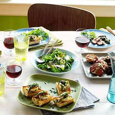 Best dinner party menus.  Ready...set...entertain! Plan a fun evening with these delectable menus organized by cuisine, occasion, and more...Sunset magazine
