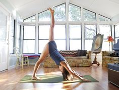 You don't have to spend a lot of money to make a space for yoga in your home. Here's how.