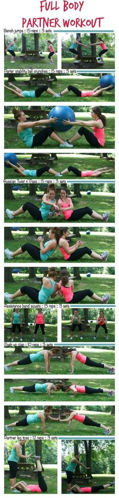 Full Body Partner Workout1.jpg http://thealmondeater.com/2014/09/full-body-partner-workout/ #Fitness #Nutrition Pin/Source -