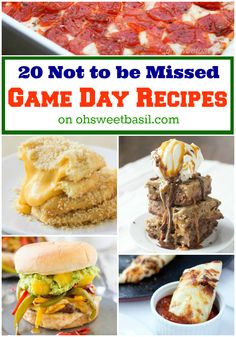 game day recipes!!