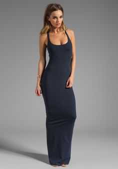"SUSANA MONACO Racer Maxi 42"" Dress in Midnight - Dresses"