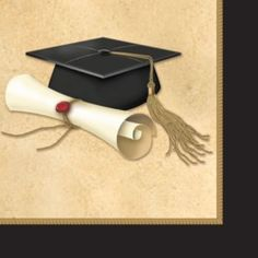 Congratulations Graduate napkins to match your other graduation paper goods.