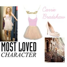 Carrie Bradshaw Sex and the City by chateaudejet on Polyvore featuring BKE core, Manolo Blahnik and Sarah Jessica Parker