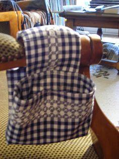 chicken scratch on chair arm remote holder