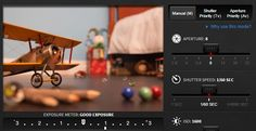 Canon Photography Simulation:  Exposure Learning Software Application