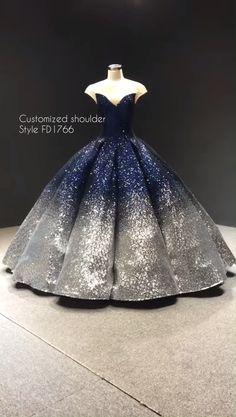 Custom made ombre blue sequin ball gown. - Custom made ombre blue sequin ball gown. Elegant Maternity Dresses, Elegant Dresses, Pretty Dresses, Beautiful Dresses, Debut Dresses, 15 Dresses, Fashion Dresses, Sexy Dresses, Summer Dresses