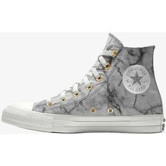 Converse Custom Chuck Taylor All Star Marble High Top Shoe ($80) ❤ liked on Polyvore featuring shoes, high top shoes, hi tops, converse shoes, converse footwear and converse high tops