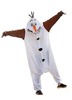 Frozen Olaf Adult Men Women Christmas Animal Kigurumi Cosplay Costume Pajamas Onesies (larger)