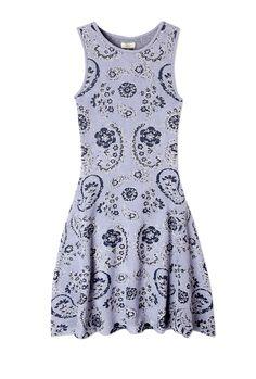Paisley Jacquard Knit Dress by Issa
