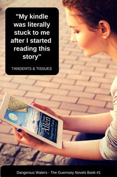 """""""My kindle was literally stuck to me after I started reading this story,"""" says book blogger Tangents and Tissues about Dangerous Waters by the award-winning author Anne Allen."""