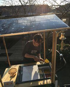 Solar-powered ice cream cart!