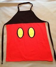 Disney Theme Parks Exclusive Mickey Mouse Adult Apron (Pre-Owned)