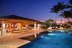 Oasis by night - North Kona, Big Island, HI to find or build your Hawaii dream home