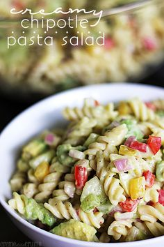 Creamy Chipotle Pasta Salad FoodBlogs.com