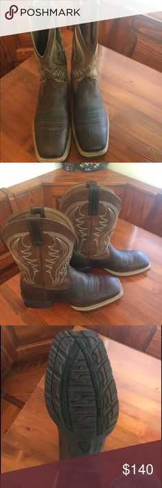 Men's ariat boots Rams ariat boots size 9. Bought for my son but he outgrew them. Like new Ariat Shoes Cowboy & Western Boots