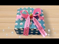 Gift Box DIY Craft : How to Make Paper Gift Box using Free Template?