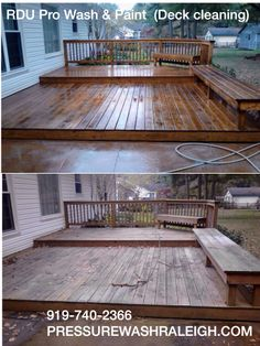 This is a deck that was cleaned by RDU Pro Wash & Paint in Cary NC.