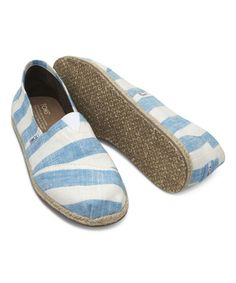 Look what I found on #zulily! Blue & White Stripe Classics by TOMS #zulilyfinds