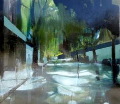 Kenneth Blom · spring · 2011 · 170 x 190 cm Urban Painting, Artist Painting, Figure Painting, Landscape Artwork, New Words, Melbourne, Northern Lights, Abstract Art, It Works