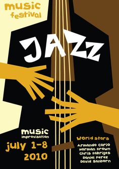 Music posters devoted to jazz by Olya Konstantinovskaya, via Behance