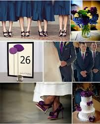 Image Result For Purple And Navy Blue Wedding