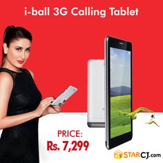 Connect to the virtual world via IBall 3G calling tablet at just Rs. 7299.   Buy now and get Rs. 800 off >> http://www.starcj.com/mall/disp/itemInfo.htm?itemCode=145127.