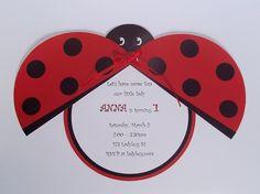 Ladybug Birthday Party  DIY Personalized by xARTinosCosmos on Etsy, €7.50