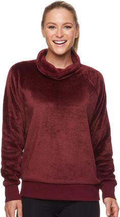 Women's Gaiam Lux Faux-Fur Cowlneck Top Cute Tops, Faux Fur, Hoodies, Sweaters, Fashion, Moda, Sweatshirts, Fashion Styles, Parka