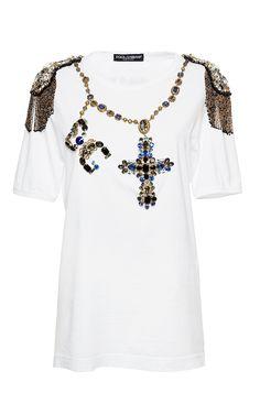 Jewel Rosary Beads Tee by DOLCE & GABBANA for Preorder on Moda Operandi