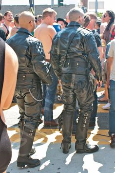 Leather cops blending in?