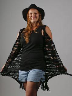 Dames Boho/Ibiza vest haken - CreaChick Crochet Vest Pattern, Crochet Cardigan, Ibiza Fashion, Stevie Nicks, Diy Crochet, Cover Up, Bohemian, Dresses, Shopping