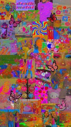 Retro Wallpaper Iphone, Hippie Wallpaper, Iphone Wallpaper Tumblr Aesthetic, Aesthetic Pastel Wallpaper, Kids Wallpaper, Aesthetic Wallpapers, Wallpaper Backgrounds, Trippy Wallpaper, Emoji Wallpaper