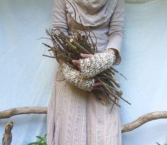Naturalist Warmers merle wool mix yarn by InnerWild on Etsy