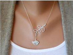Clavicle by sevenvsxiao, silver bird with branches, so pretty and delicate