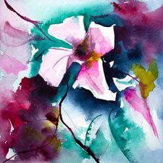 Petit instant N° 247 - Painting,  15x15 cm ©2014 par Véronique Piaser-Moyen -  Peinture, Aquarelle