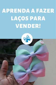 Business Baby, Diy Hair Bows, Diy Hair Accessories, All About Fashion, Diy Hairstyles, Fabric Flowers, Diy And Crafts, Youtube, Disney Hair Bows