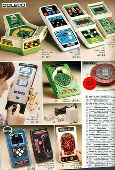 Sears Catalog Ad for Handheld Coleco Video Games Vintage Video Games, Retro Video Games, Retro Toys, Vintage Toys, Vintage Stuff, Childhood Toys, Childhood Memories, Radios, Handheld Video Games