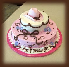 Adorable cowgirl cake
